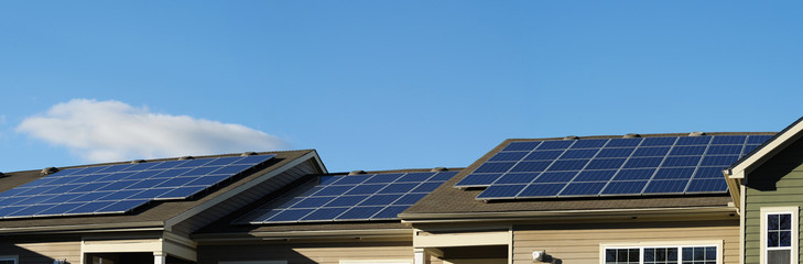 Image shows solar installation on a roof top. Tasmanian Solar designer and installer.
